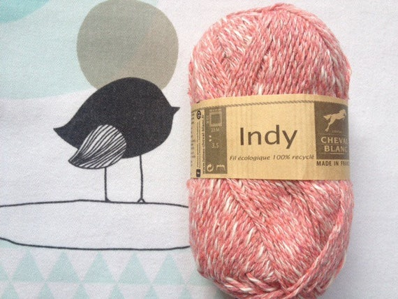 WOOL INDY old pink - white horse