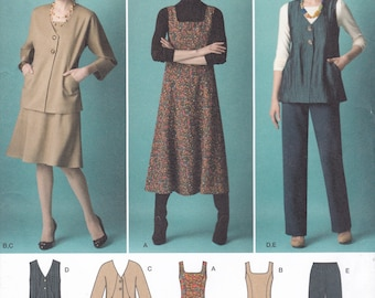 FREE US SHIP Simplicity 2539 Sewing Pattern Dress Top Pants Vest Jacket Separates Wardrobe Size 10 12 14 16 18 Bust 32 34 36 38 40 new aa