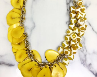 Papaya Project statement necklace by Very Valero