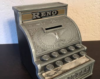 Vintage Reno Cash Register Coin Bank