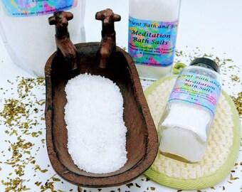 Meditation Bath Salts, Relaxation Bath Salts, Organic Bath Salts
