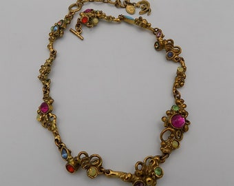 CHRISTIAN LACROIX/Very Rare Vintage/Christian Lacroix Necklace/Made in France/Signed LACROIX/ParisLuxe/Vintage Gift, Paris.