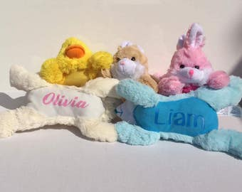 Personalized Easter Stuffed Animals.  The perfect addition to an Easter Basket.