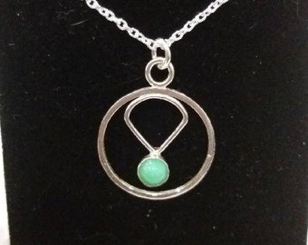 Sterling silver and Chrysoprase necklace