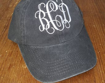 Monogram Cap - Monogrammed Baseball Hat - Monogrammed Hat - Women's Baseball Cap - Bridesmaids Hats - Bridesmaid Gift - Embroidered Hat