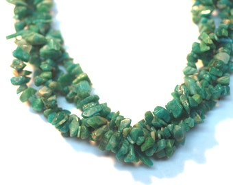 """2 Strands Russian Amazonite Chips 36"""" Long"""