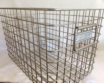 Large Vintage Loccker Gym Basket