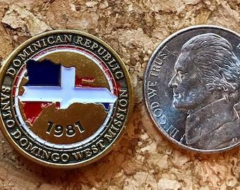 Dominican Republic Santo Domingo West Mission Lapel Pin (LDS)
