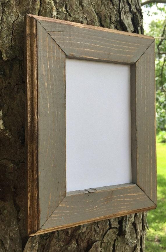 8.5 x 11 Bilderrahmen grauen verwitterten Landhausstil mit