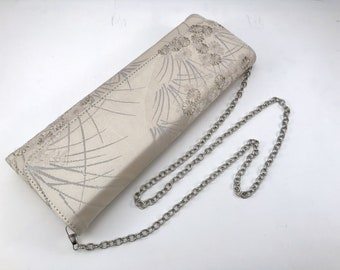 Obi clutch bag, japanese evening dinner purse, kimono clutch bag, wedding clutch, Fukuro Obi, elegant handbag, AnninaDesigns