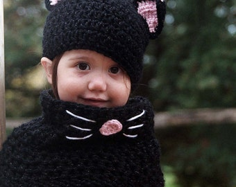... black cat hat and cowl set  sc 1 th 200 & how to make a baby cat in the hat costume 2t