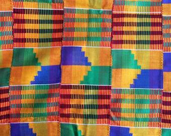 Traditional Hand Woven Ashanti Kente Cloth (Various Sizes)