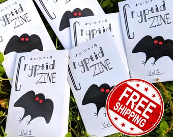 Just A Cryptid Zine| Free Shipping