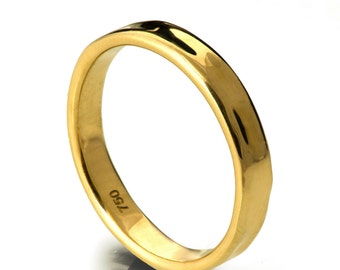 Simple Gold Wedding Band - 18k Gold Ring, 18k Gold Band, Wedding Ring , Wedding Band, Solid Gold Band, Solid Gold Ring, 3