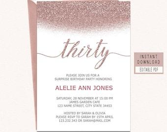30th birthday invite etsy thirty birthday invitations 30th filmwisefo