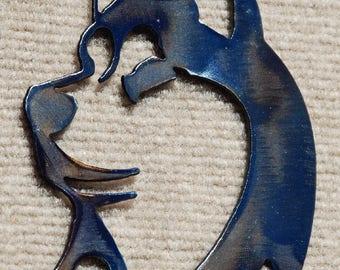 Husky metal wall sculpture