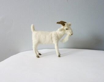 White Goat  Wool Needle felted