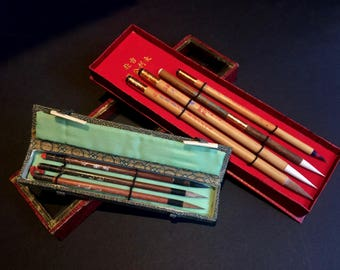 Vintage Calligraphy Brushes
