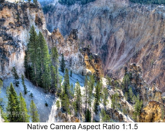 The Grand Canyon of Yellowstone #1: Landscape art photography prints for home or office wall decor.