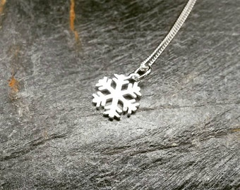 Sterling Silver Snowflake Necklace/Frozen/Charm Necklace/Silver Snowflake/Frost/Silver Charm/Silver Necklace/Snowflake/Snowflake Jewellery
