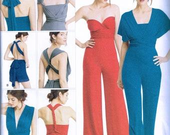 Size 6-26 Misses' Plus Size Wide Leg Jumpsuit Sewing Pattern - Romper Sewing Pattern - Wrap & Tie Jumpsuit - SImplicity 8065
