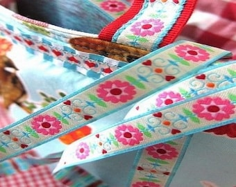 Floral Ribbon farbenmix 12mm by the yard