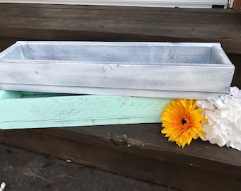 Long Rustic Centerpiece Box (Narrow)