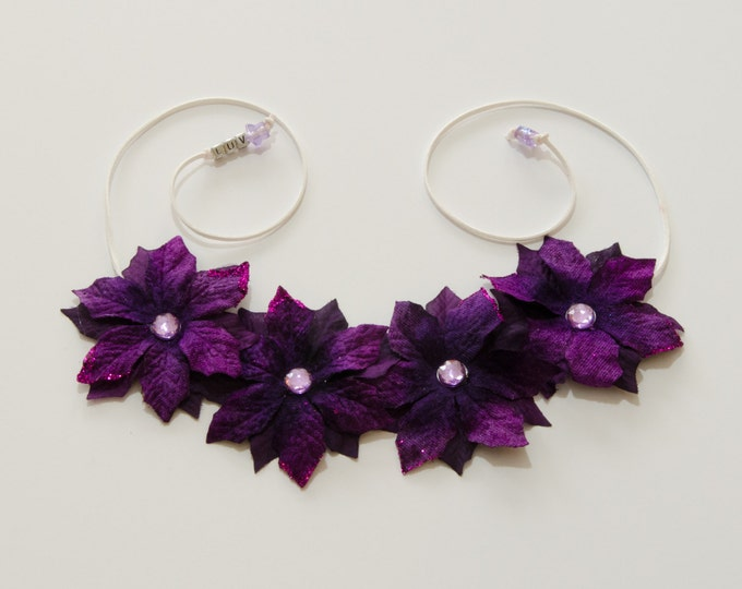 Purple Poinsettia Flower Crown