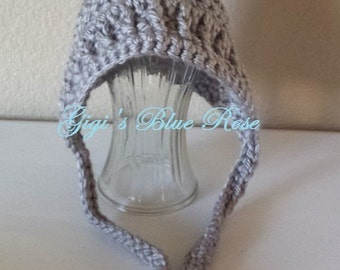 Crochet Chunky Pixie Bonnet/Newborn Photo Prop/Baby Shower Gift/Ready to Ship