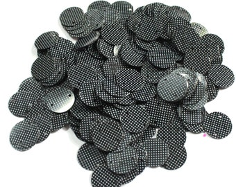 100 Black Color/ Round Sequins/White Dotted Texture/ PRS563
