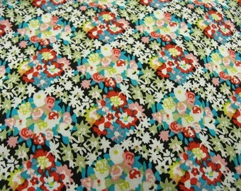 cotton fabric printed flowers