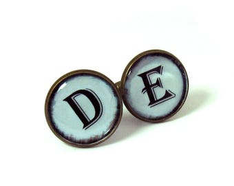 boutons de manchette initiales etsy. Black Bedroom Furniture Sets. Home Design Ideas
