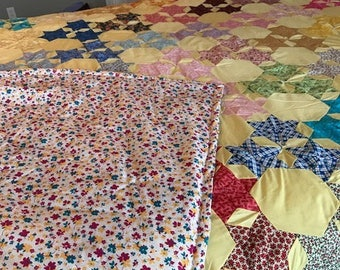 Hand Sewn King Sized Star Quilt