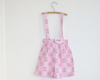 Vintage Pink Floral Girl's Shorts