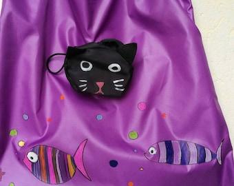 Super light foldable clutch/cat bag for shopping