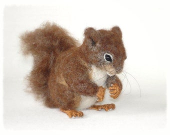 Ooak Needle Felted Red Squirrel
