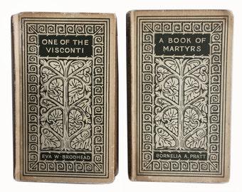 Vintage Decorative Books - Pair