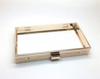 5pcs/lot 19 x 12cm box clutch minaudiere metal frame hardware, only metal frame, L66a-4