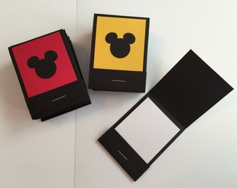 20 Mickey Mouse Matchbook Notepads Matchbook Favors - Mickey Mouse, Handmade