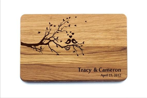 Australian Wedding Gifts: Personalized Wedding Gift Custom Cutting Board Personalized