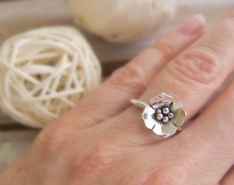 Dogwood Flower Ring, Sterling Silver Rings for Women, Flower Ring, Flower Jewelry, Floral Ring, Floral Jewelry  Flower Gift, I Pick You Ring