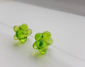 Handmade,Murano Glass Small Beads 2pcs