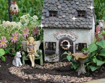 Fairy Garden House, Miniature Garden, Fairy Garden Cottage, Tiny Fairy House,  Miniature House, Gnome House, Tiny Fairy House, Small House