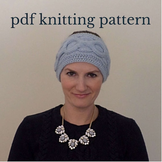 Cable knit headband knitting pattern cable knit ear warmer dt1010fo