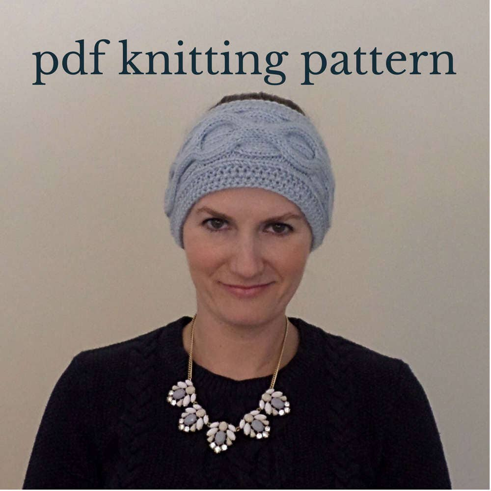 Cable Knit Headband Knitting Pattern Cable Knit Ear Warmer
