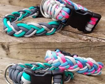 Braided Collar, Custom Dog Collar, Choose Colors, Braided Dog Collar, Paracord Dog Collar, Cute Dog. Rope Dog Collar