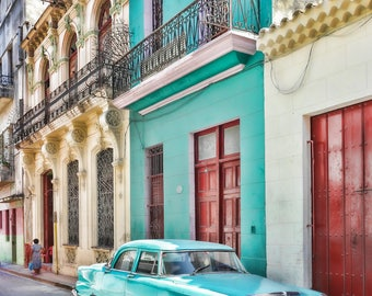 Havana Style, Classic Car Photo, Cuba Art Print, Canvas, Cuban Decor, Large Wall Art, Travel Photo, Travel Photography, Cuba photography,