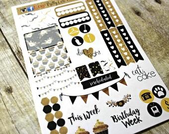 Planner Stickers Sampler- Birthday Stickers- Happy Planner - Day Designer - Functional stickers - Fits Erin Condren - Birthday week stickers
