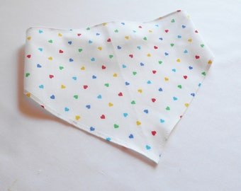 Girls Head Scarf With Rainbow Colored Hearts