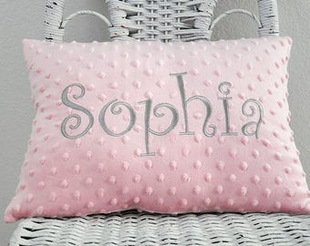 Minky Baby Pillow Baby Gift Shower Gift INSERT INCLUDED Personalized Nursery Pillow Personalized Gift